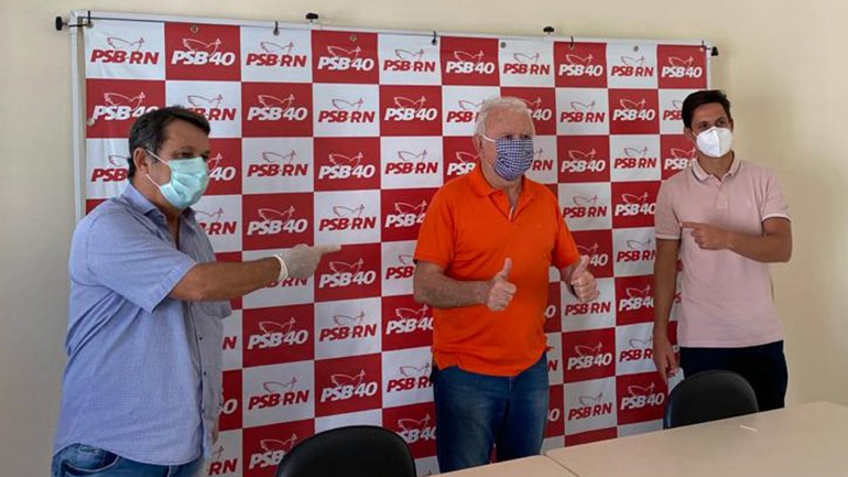 Maurício Marques recebe apoio do PSB para as eleições municipais de Parnamirim