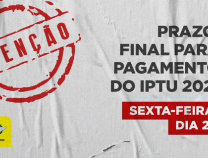 Contribuinte tem até esta sexta-feira (29) para quitar pagamento do IPTU 2021