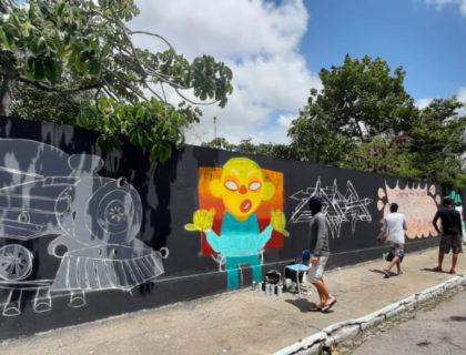Projeto Trampolim das Cores leva arte aos espaços públicos de Parnamirim