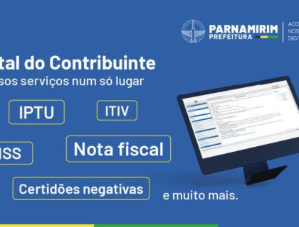 Prefeitura de Parnamirim disponibiliza diversos serviços online no Portal do Contribuinte