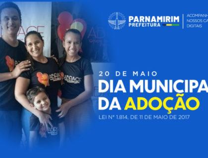 Em Dia Municipal da Adoção, Parnamirim enfatiza o tema