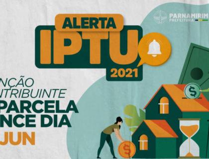 Quinta parcela do IPTU vence no próximo dia 10