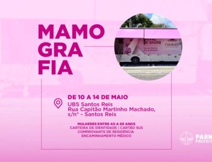 Unidade Móvel realiza mamografias em Santos Reis a partir desta segunda-feira (10)
