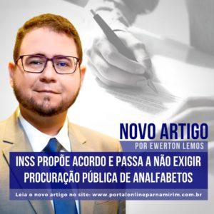 INSS PROPÕE ACORDO E PASSA A NÃO EXIGIR PROCURAÇÃO PÚBLICA DE ANALFABETOS