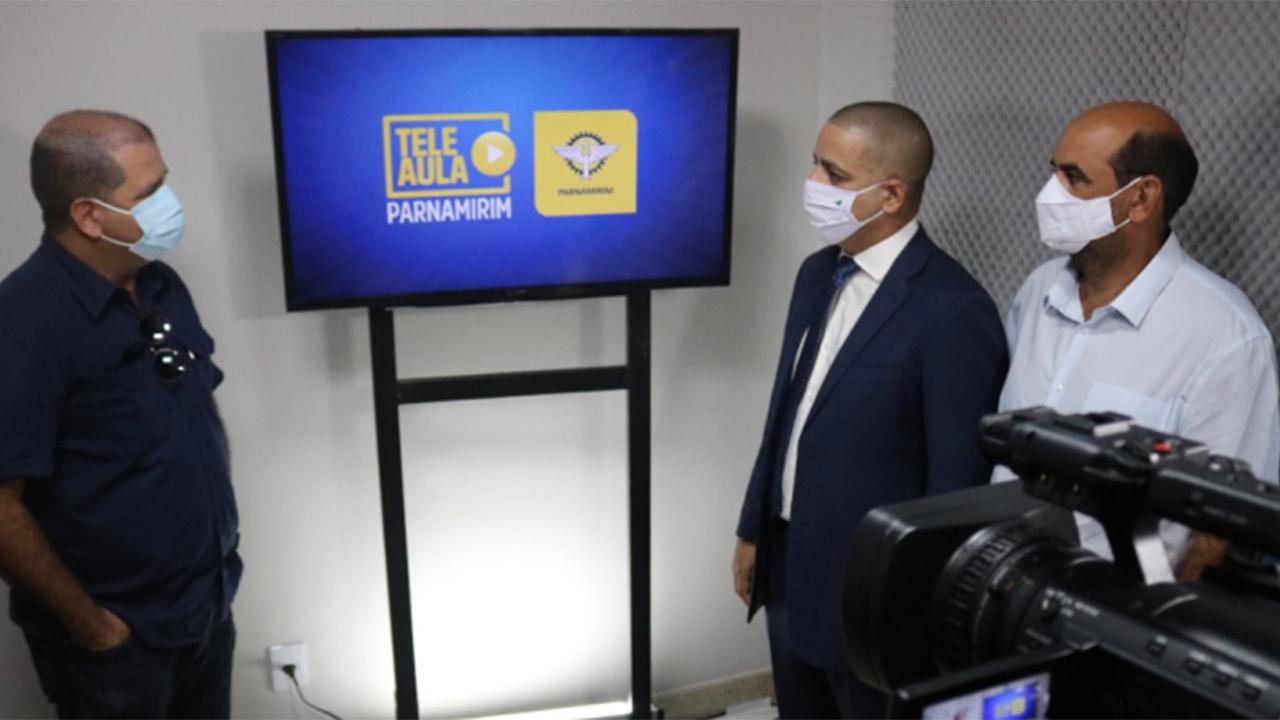 Parceria entre Câmara Municipal, Band RN e Secretaria Municipal de Educação transmite teleaulas em TV aberta para todo estado