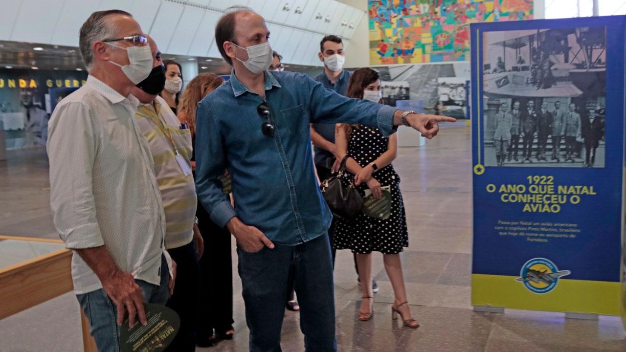 Secretário Daniel Américo recebe secretário de Turismo de Natal no Centro Cultural, nesta quarta-feira, 25